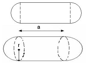 Find Capsule Volume, Surface Area and Circumference